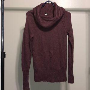 J. Crew Burgundy Red Cowl Turtleneck Sweater